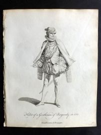 Jefferys C1760 Costume Print. Gentleman of Burgundy in 1581 France